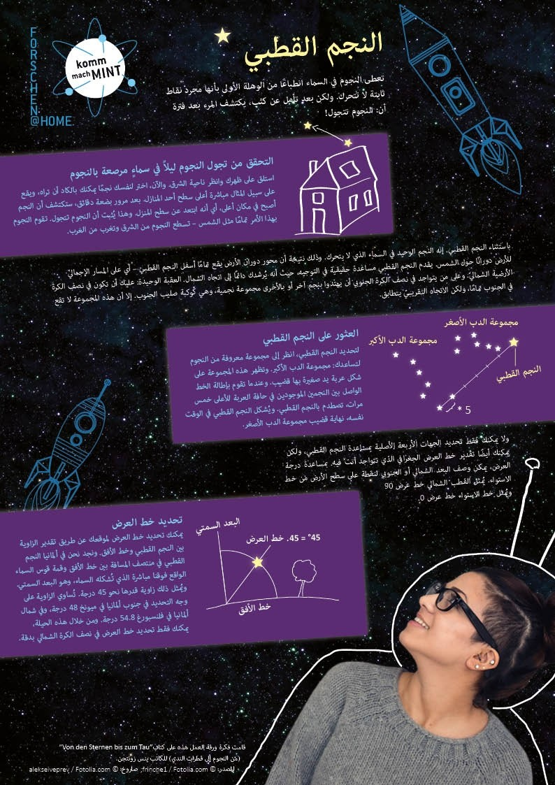 Forschen@Home: Der Polarstern - arabisch