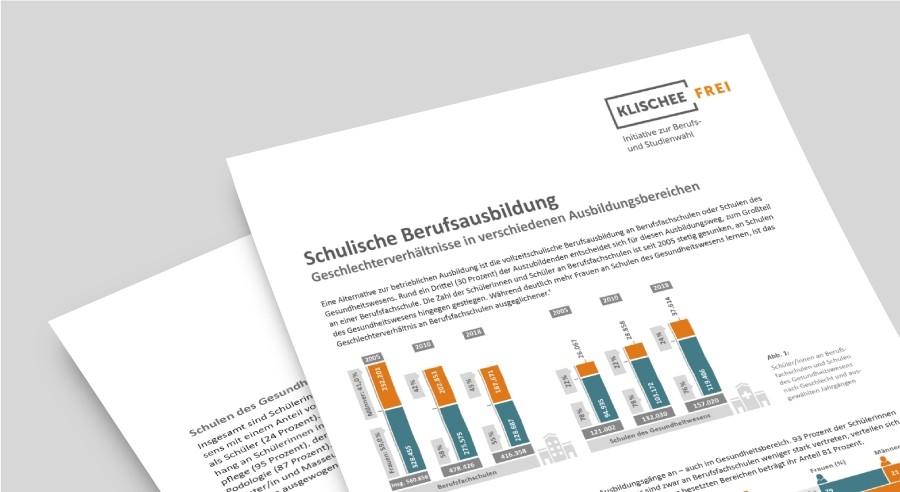 Klischeefrei Faktenblatt | Frauen und Männer in der schulischen Berufsausbildung