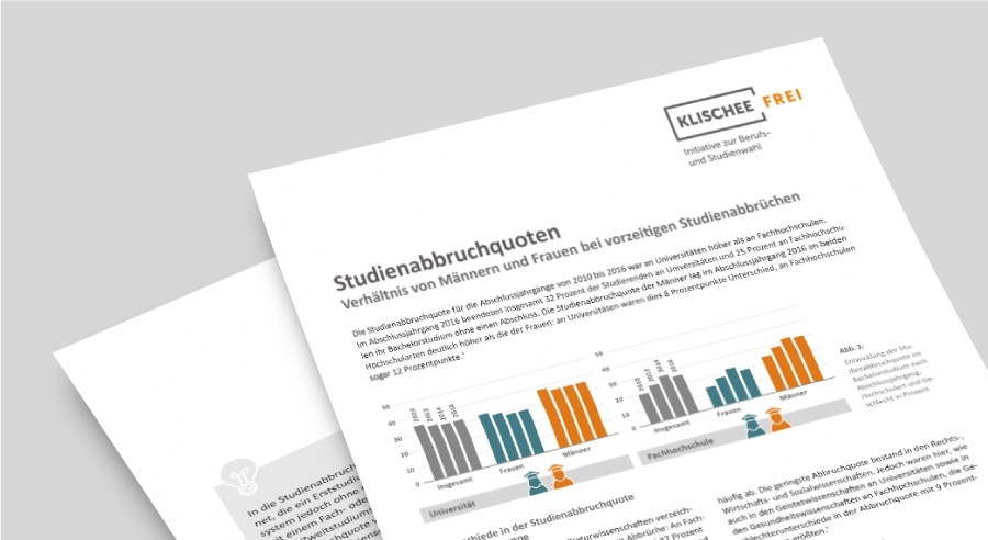 Klischeefrei Faktenblatt | Studienabbruch von Frauen und Männern