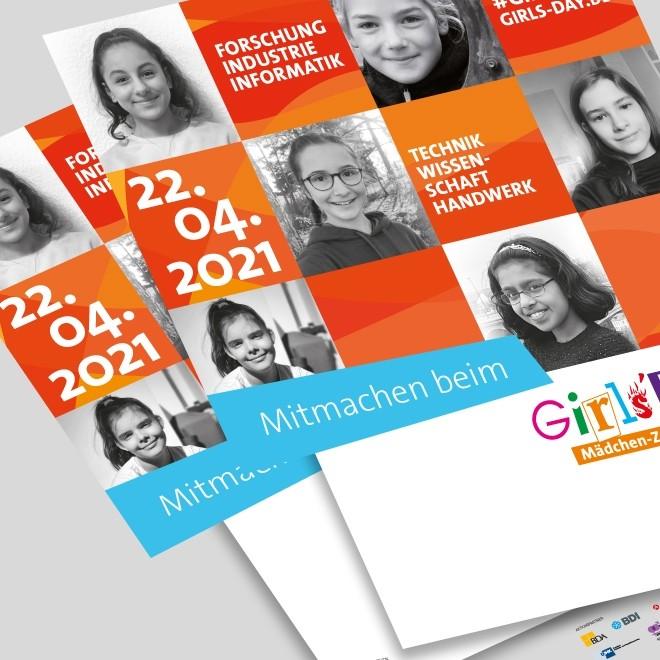 Girls'Day-Plakat DIN A3 beschreibbar