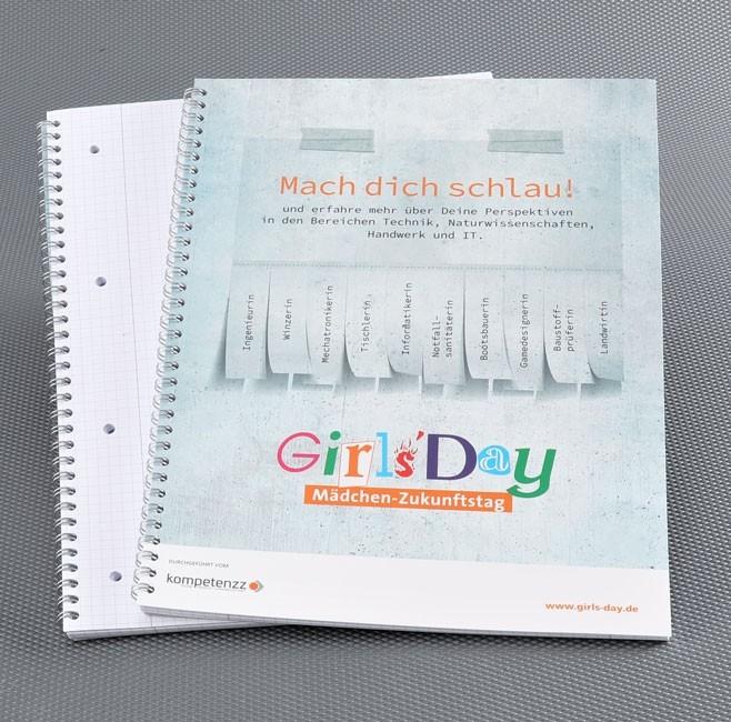 Girls'Day-Collegeblock | 10 Stück | Mach dich schlau