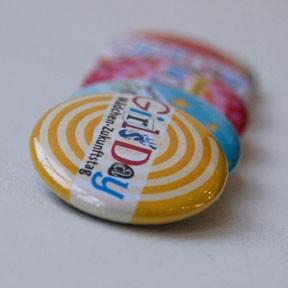 Girls'Day-Buttons | 10 Stück, gemischt