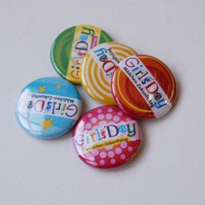 Girls'Day-Button | 50 Stück, gemischt