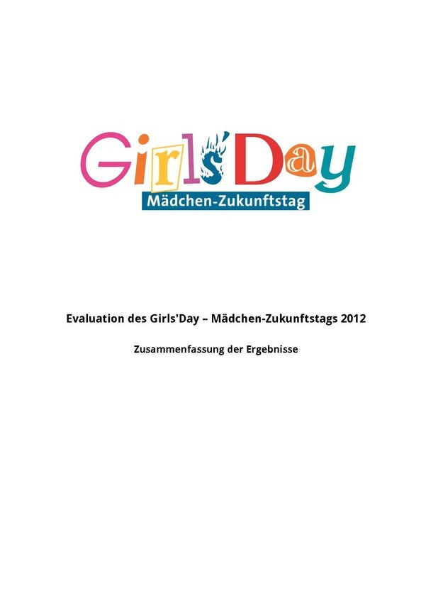 Girls'Day-Evaluationsergebnisse  2012 | Zusammenfassung