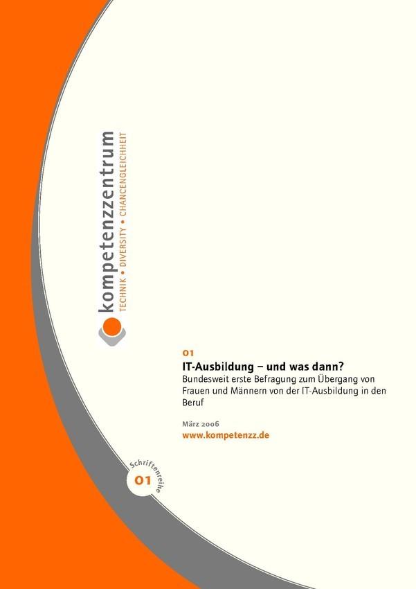 IT-Ausbildung – und was dann? | Schriftenreihe Heft 01