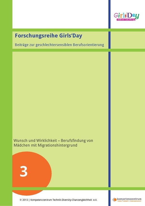 Berufsfindung von Mädchen mit Migrationshintergrund | Forschungsreihe Teil 3