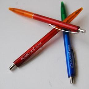 Girls'Day-Kugelschreiber | 50 Stück, rot/orange oder grün/blau
