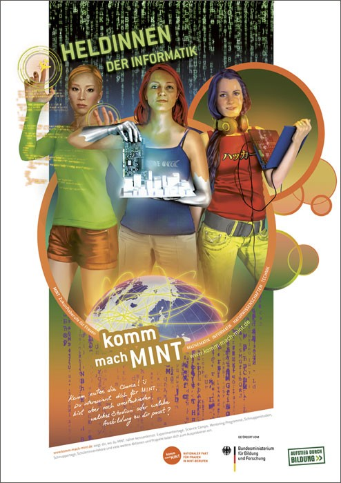 Heldinnen der Informatik Plakat  |  DIN A 1