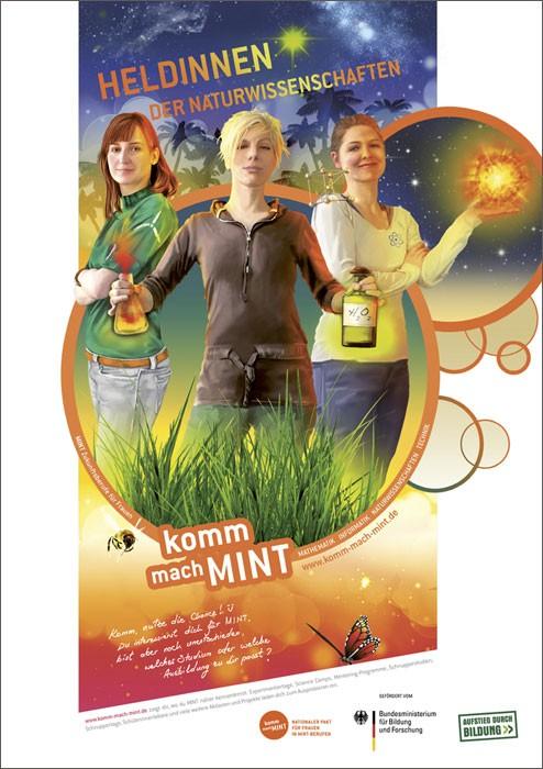 Heldinnen der Naturwissenschaft Plakat  |  DIN A 1