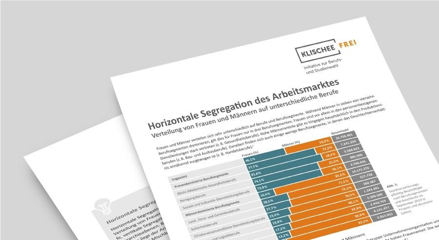 Klischeefrei Faktenblatt | Horizontale Segregation des Arbeitsmarktes