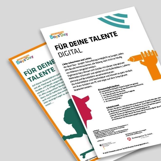 FÜR DEINE TALENTE digital – Einführung für Lehrkräfte