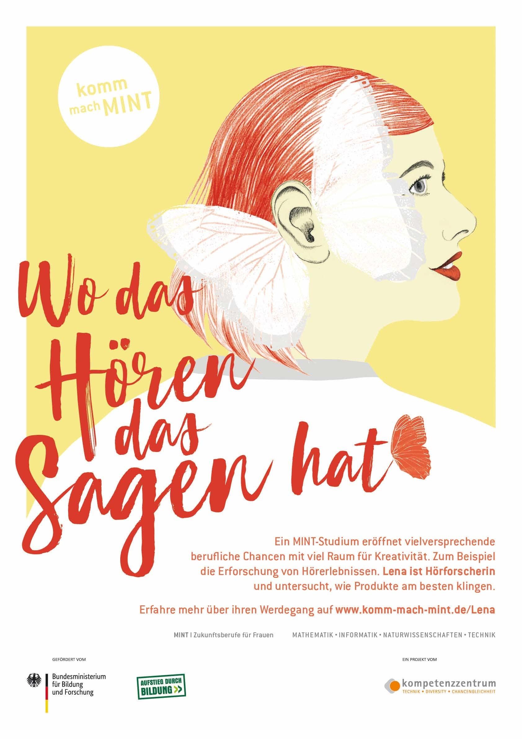 Wo das Hören das Sagen hat - Hörforschung  Poster | A 1