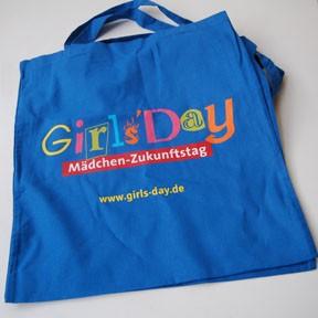 Girls'Day-Stofftasche | 50 Stück, blau
