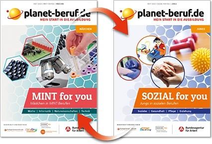 planet-beruf.de: MINT for you & SOZIAL for you - Mein Start in die Ausbildung | Wendeheft | Ausgabe 2019