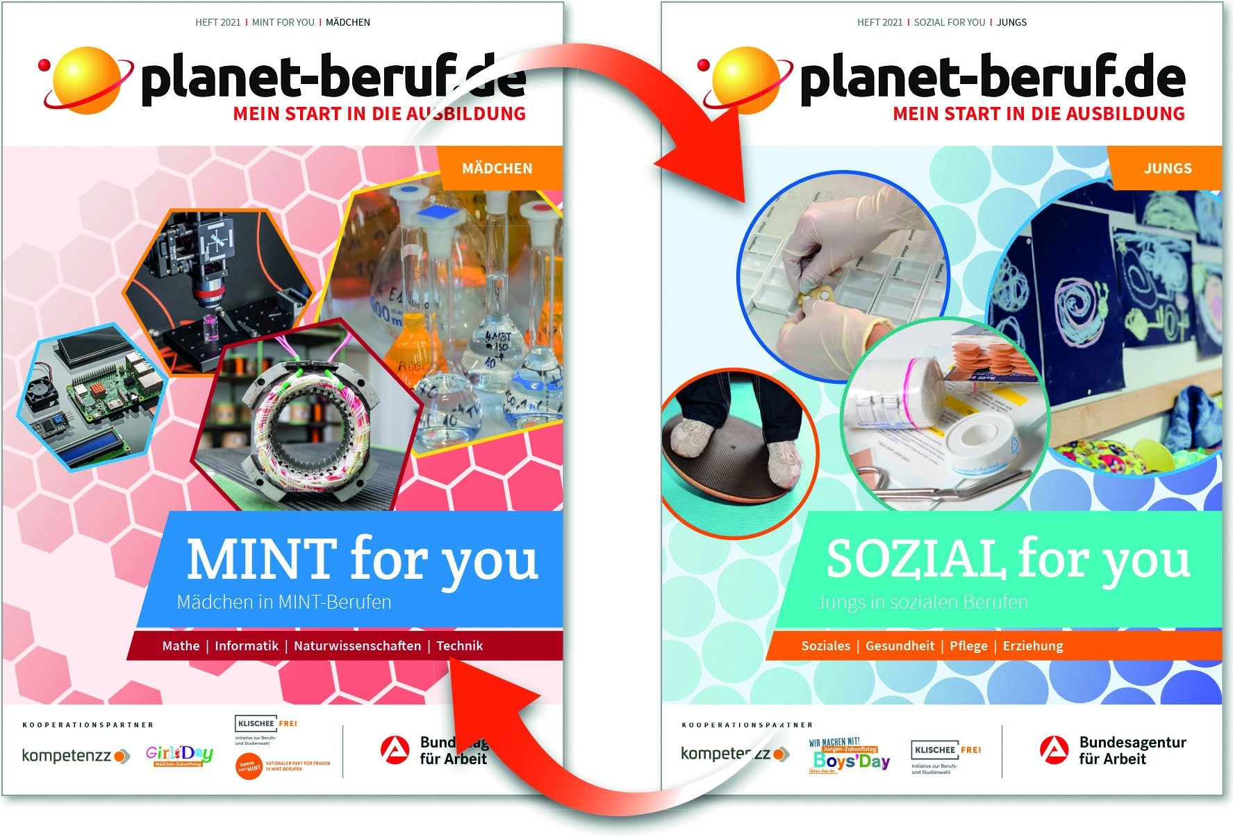 planet-beruf.de: MINT for you & SOZIAL for you | Wendeheft | Ausgabe 2021