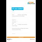 Boys'Day-Teilnahmebestätigung (Ich war dabei!) | beschreibbares Formular