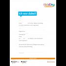 Girls'Day Teilnahmebestätigung (Ich war dabei!) | beschreibbares Formular